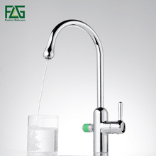 Solid Brass Kitchen Faucet Cold and Hot 360 Degree Rotation Double Handle Purified Water Faucet Mixer Tap Filter(China)