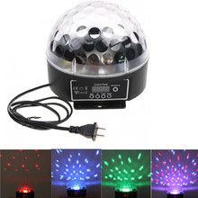 Big Promotion Mini LED RGB Crystal Magic Ball Effect Light DMX Colorful Rotating Disco DJ DMX512 Stage Lighting EU/US Plug(China)