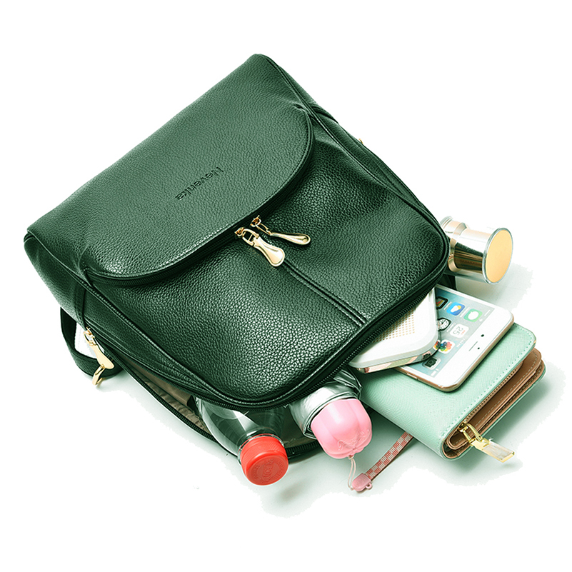 Nevenka Women Backpack Leather Backpacks Softback Bags Brand Name Bag Preppy Style Bag Casual Backpacks Teenagers Backpack Sac11