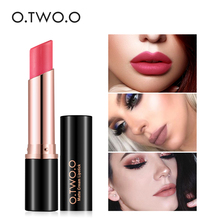 O.TWO.O 12 Colors Waterproof Kiss Proof Lipstick Matte Rouge Cosmetics Make Up lipeasy to wear, nutritious(China)