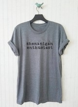 Shenanigan Enthusiast Unisex T shirt moletom do tumblr t shirt greys anatomy casual tops grey black summer outfit