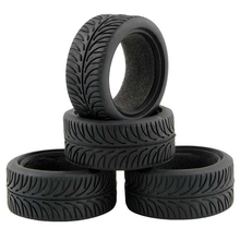 4PCS High Grip Black Rubber Tyre Wheel Tires for 1:10 4WD RC On Road Touring Car Traxxas Tamiya HSP HPI Kyosho