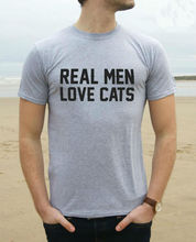 Buy Real Men Love Cats Print Men T shirt Fashion Casual Funny Shirt Man Gray White Black Top Tee Hipster Street Rock ZT203-81 for $7.92 in AliExpress store