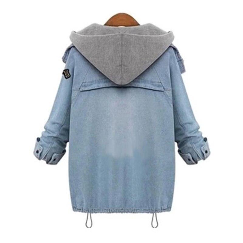 معطف جينز قطعتين دافئ وعصري 7