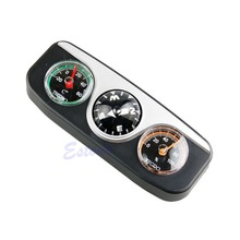 Outdoor Accessories 3in1 Guide Ball Car Boat Vehicles Auto Navigation Compass Thermometer Hygrometer