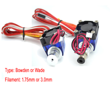 Lastest V6 Version All metal J-head Hotend Wade or Bowden Extruder with Heater & Thermistor for 1.75/3.0mm 3D Printer Parts
