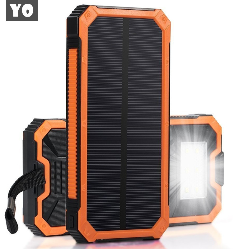 Solar Power Bank Outdoor Sun Powerbank Charger Dual USB Mobile Charger Waterproof External Battery Mobile Phone Power Bank(China (Mainland))