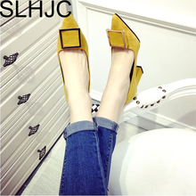 Buy SLHJC Women Pumps Spring Autumn Match OL Square Heel Fashion Pointed Toe Buckle High Heel Wedding Party Shoes Heel for $16.83 in AliExpress store