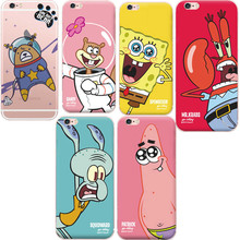 Sponge Bob Cover for iPhone7 Plus5 5S SE 6S 6 Plus Case Cute Cartoon Fashion Fundas Silicon Colorful Patrick Mobile Phone Shell