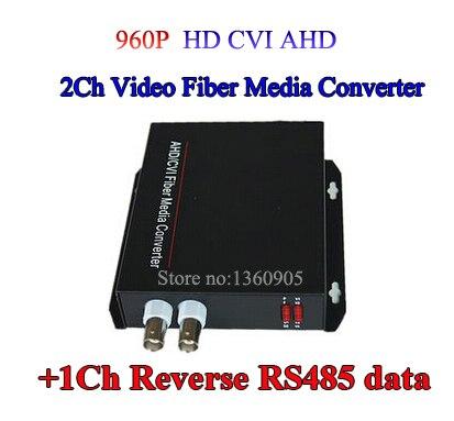 2Ch CVI AHD Video data optical Media Converter Transmitter Receiver with RS485 data-1Pair for 720P 960P AHD CVI HD camera CCTV<br><br>Aliexpress