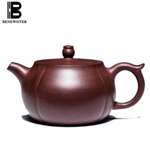 230cc Authentic Yixing Purple Clay Teapot Health Zi Mud Raw Ore Qinglian Oolong Tea Kettles Drinkware 188 Ball Holes Pu'er Pot(China)