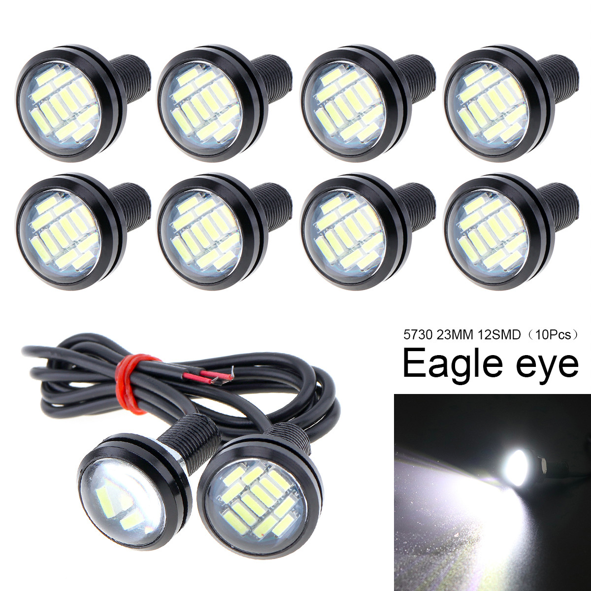Electric Vehicle Parts 10pcs Waterproof 18mm 9w Cob White Led Eagle Eye Car Fog Drl Turn Signal Light Be Friendly In Use Accessories