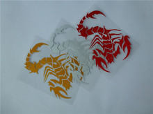 3pc/lot reflective scorpion sticker car horoscopes Scorpio motocrclye scooter sticker motocross stickers dirt bike decals ATV