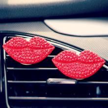 Car-styling AUTO Car Loving Sexy Gift Air Outlet Fragrant Perfume Clip Lips Freshener Diffuser august3(China)