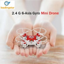 LeadingStar Mini Drone 4 Colors Small Pocket Drone FQ777-124 2.4G 6-Axis Gyro 4CH Headless One Key Return RTF RC Quadcopter zk10(China)