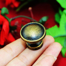 Antique Bronze Zinc alloy Mini Round Button Jewelry Box knobs Drawer Cabinet Cupboard Door Closet Window Handle Pull 25mm(China)