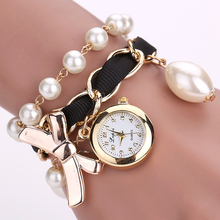 Lvpai Brand Cheap Watches Women Luxury Bow Pearl Bracelet Wristwatch Women Fashion Casual Women Summer Electronics Watch LP623