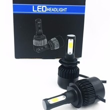 FREE SHIPPING, S2 G5  H7  72w Car Cob Led Headlight Kit Beam Bulbs 6500k 16000LM  White Ligh