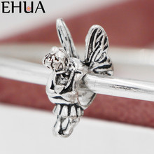 Free Shipping Sliver Bead Charm Angel Little Girla Accessories Beads Fit Pandora Bracelets & Bangles DIY Jewelry SPB156