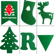 2.5M Christmas Garland Bunting Flags XMAS Deer Tree Socks Elk Letters Home Market Mall Decorations Party Banner Decor QB874698