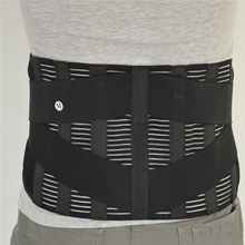 Big Size Neoprene Waist Support Breathable Elastic Back Waist Support Belt Sport Waist Protector Black Lumber Brace Y015