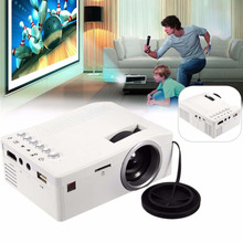 UC18 Mini LED Digital Video Game Projectors Multimedia player Inputs AV VGA USB SD HDMI proyector Built-in Speaker data show