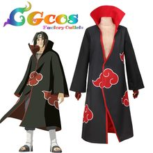 CGCOS Free Shipping Cosplay Costume Akatsuki Cloak Coat New in Stock Halloween Christmas Party Uniform