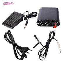 Professional Tattoo Kit Tattoo Mini Power Supply  Foot Pedal  Flexible Clip Cords With European standard Power Cable