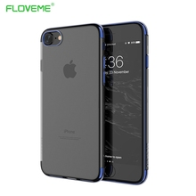 FLOVEME Original For iPhone 7 Plus iPhone 7s Transparent Case For iPhone 6 6S Plus Luxury Phone Cases For iPhone 7 Cover Silicon