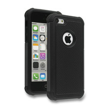 Ballistic Plastic Hard Case Shockproof Cover For Apple iPhone 5c Hybrid Cover Dual Layer(China)