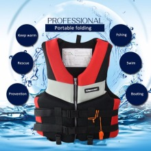 Wholesale Adults Life Jacket Professional Universal Swimming Boating Skiing Drifting Fishing Foam Vest Thickened Life Vest swim(China)