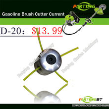 Free Shipping petrol lawn mower trimmer head 2-stroke brush cutter head grass cutting machine gasoline plastic  D-20