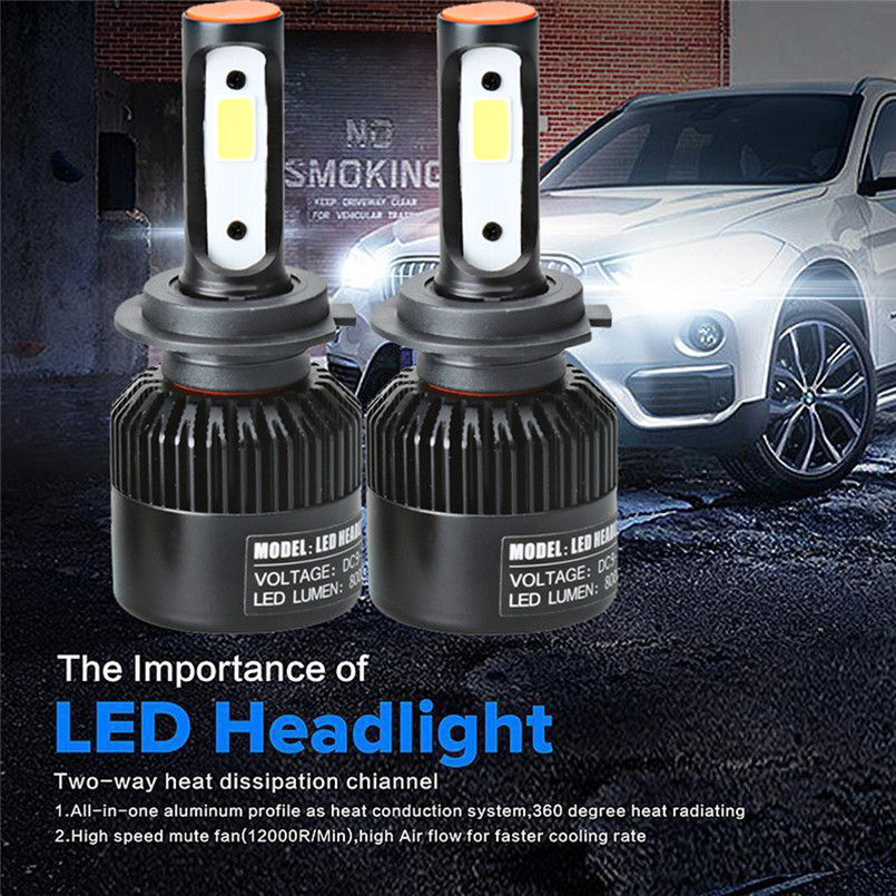 New arrival 2017 H7 110W 16000LM LED Headlight Conversion Kit Car Beam Bulb Driving Lamp 6000K Auto car-styling lights