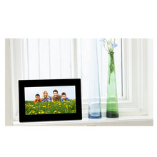 7inch HD LCD Digital Photo Frame Built-in Stereo Speakers with Alarm Clock Slideshow MP3/4 Player With US Plug Charger #S