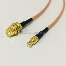 "2PCS New SMA Female Jack  Connector Switch  MCX  Male Plug Connector RG316 Coaxial Cable Pigtail 15CM 6"" Adapter"