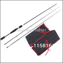 Free Shipping By eEMS 2.1m Carbon Spining Fishing Lure Rod hand pole telescopic rod sea rod powerful surf
