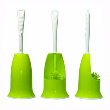 Durable Long-hand Double Side Toilet and Corners Cleaning Brush Deep Cleaner Tools With Non-slip Handle Scrubbing Grips Brush(China)