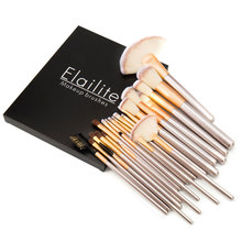 Elailite 24 Pcs Professional Make up Brushes Set in a Cosmetic Case Makeup Kit+Gift Box(China)