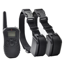Ipets 998DR-2 Remote Dog Training Collar Rechargeable And Rainproof Vibration Shock Electronic Collar 300M 100Levels(China)