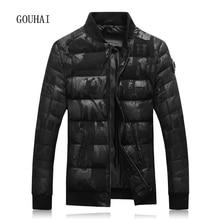 Fashion Print Light Mens Feather Jacket Male Parka Homme Winter Jacket Mens White Duck Jacket Men Black 4XL 5XL