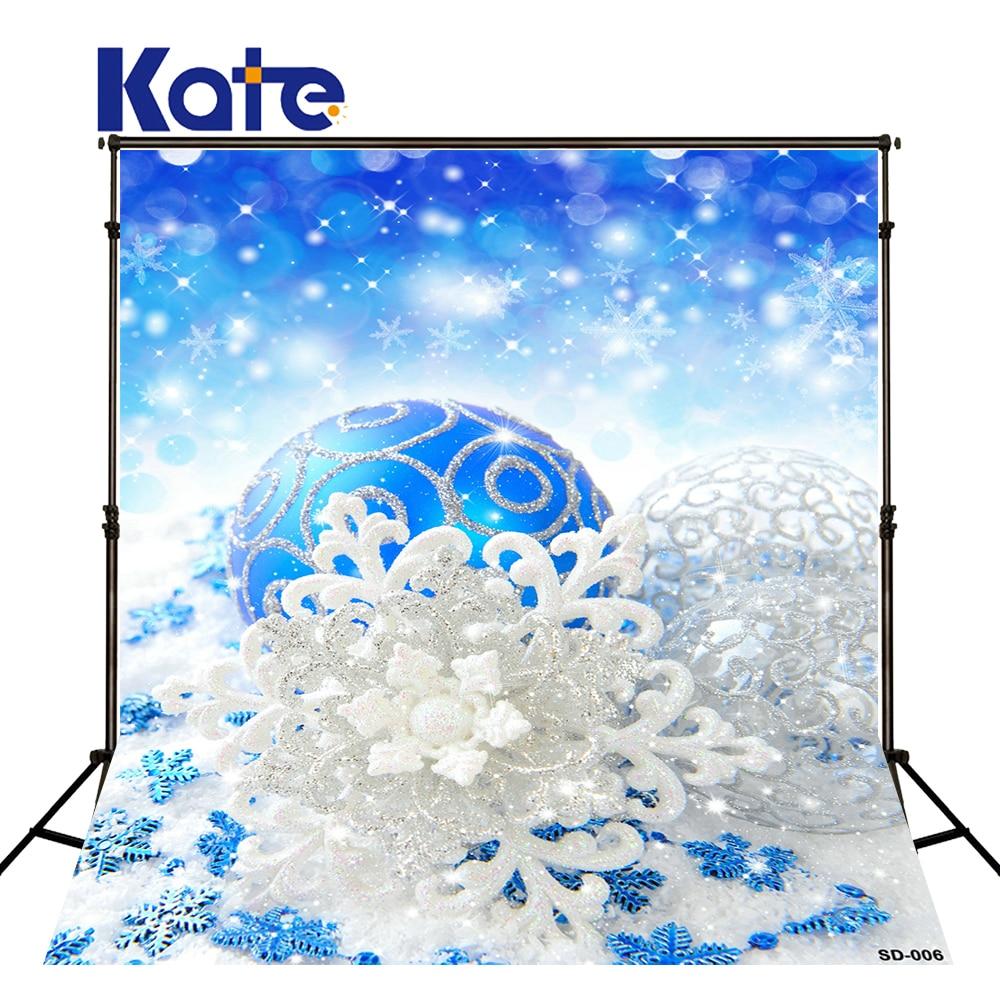 KATE Photography Backdrop Christmas Backdrops Bolas Navidad Background Blue Bokeh Backdrop Glitter Backdrops for Studio<br>