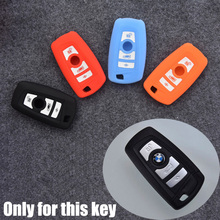 Silicone Key Cover Case For 3 Or 4 Buttons BMW 3 5 7 Series X1 X3 X4 X5 X6 ect. Smart Remote Key Car Key Case 4 Colors