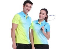 New sports badminton clothes ,Tennis shirt Women/Men, Badminton shirt , table tennis shirt POLO T Shirts Quick Dry tshirt M1001(China)