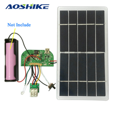 Aoshike 1 Set Solar Power Generate 3.7V Lithium Battery Charging Board 5V Mobile Phone Charging Bank Module(China)