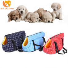 Portable Pet Dog Cat Travel Carrier Breathable Puppy Handbag Shoulder Carrier Outdoor Bag Pet Accessories DOGGYZSTYLE 83(China)