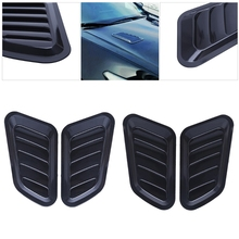 Buy 1 Pair Universal Car Sticker ABS Decorative Air Flow Intake Bonnet Vent Cover Hood New Drop for $8.97 in AliExpress store