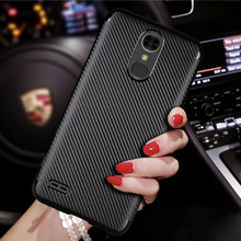 Synthetic Fiber Case Fundas Case For LG K10 2017 Cover soft Carbon Fiber tpu Plastic Back Cover For LG K 10 2017 5.3""