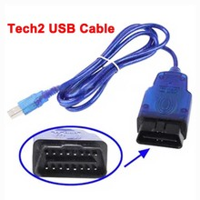 2016 New Arrival Professional Tech2 USB Diagnostic Cables and Connectors Tech 2 USB Interface Works For Opel Cars