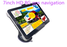 New 7 inch HD Car GPS Navigation 800M/ FM/8GB/128MB newest Map For Russia/Kazakhstan Europe/USA+Canada/Australia TRUCK Navigator