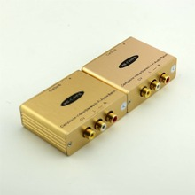 1pair Over Single RJ45 Cat5e/6 Composite Video/Stereo Hi-Fi Audio Balun Extender(China)